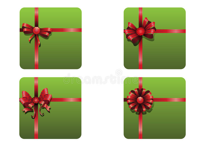 Download Christmas ribbons set stock vector. Image of round, copyspace - 35623550