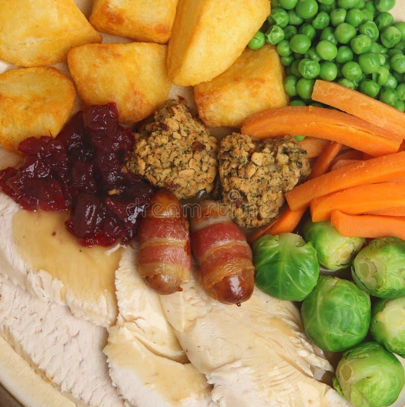 Christmas Roast Turkey Dinner Stock Photo - Image: 33610522