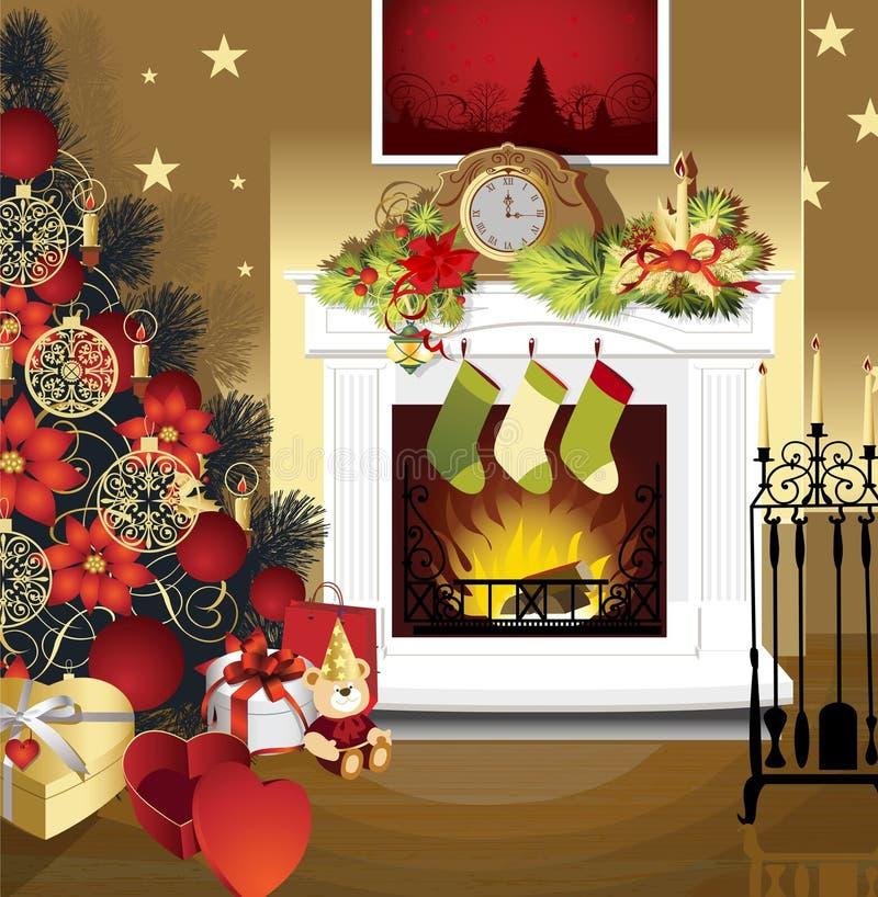 Christmas Room Stock Vector Image Of Illuminated