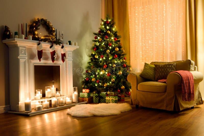 Christmas room interior design stock image