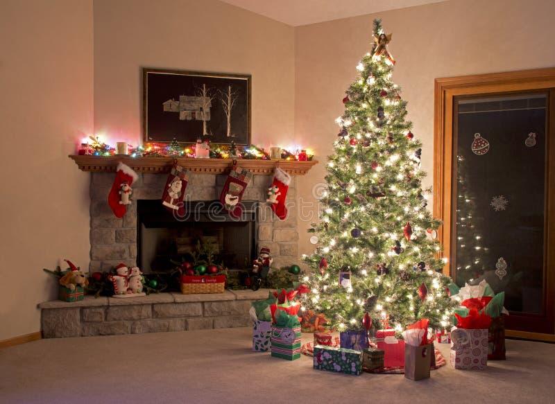 Christmas Room stock photography