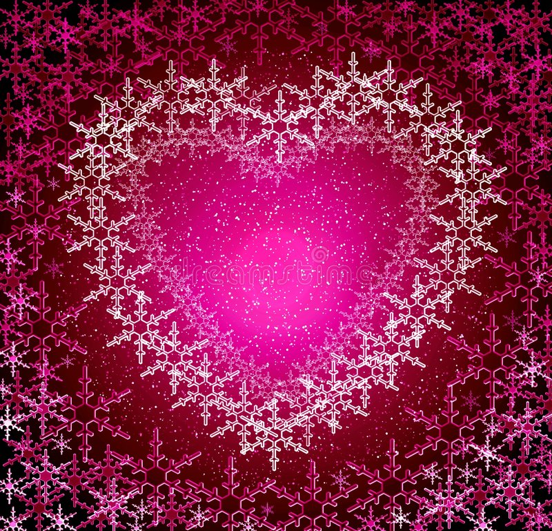 Christmas rosy love frame stock images