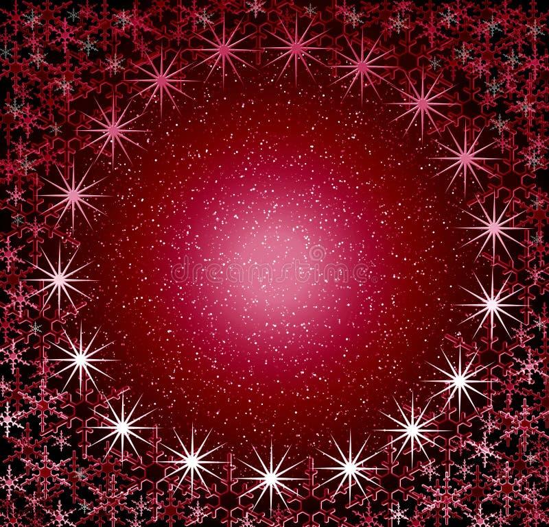 Christmas rosy round snow frame. royalty free stock photos