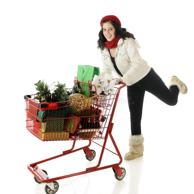 Download Christmas Rush stock photo. Image of shotting, presents - 27229378