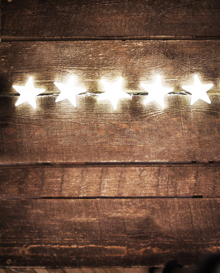 Download Christmas Rustic Background With Lights And Free Text Space. Fes Stock Photo - Image & Christmas Rustic Background With Lights And Free Text Space. Fes ...