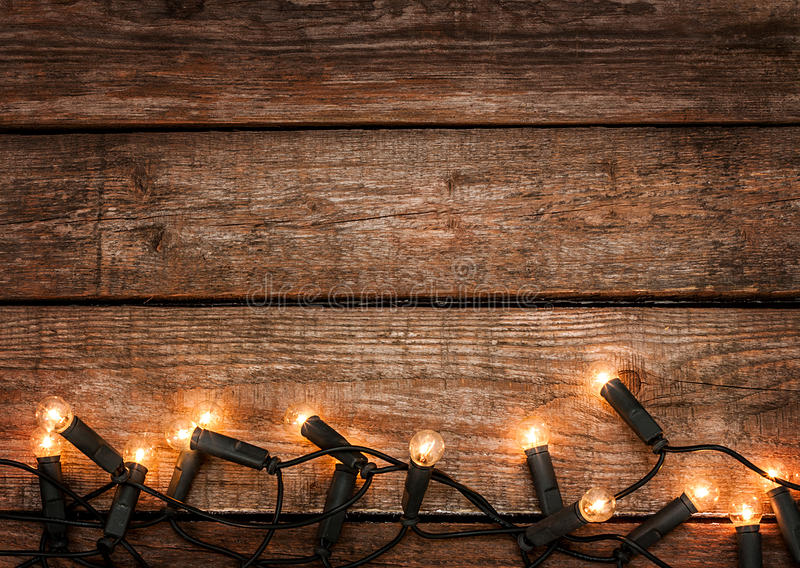 Download Christmas Rustic Background - Vintage Wood With Lights Stock Image - Image of rural, poster: 34477047