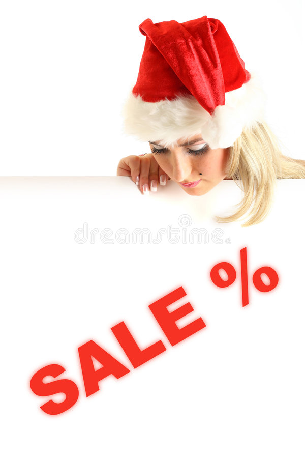 Download Christmas sale stock image. Image of blond, lady, claus - 7174723