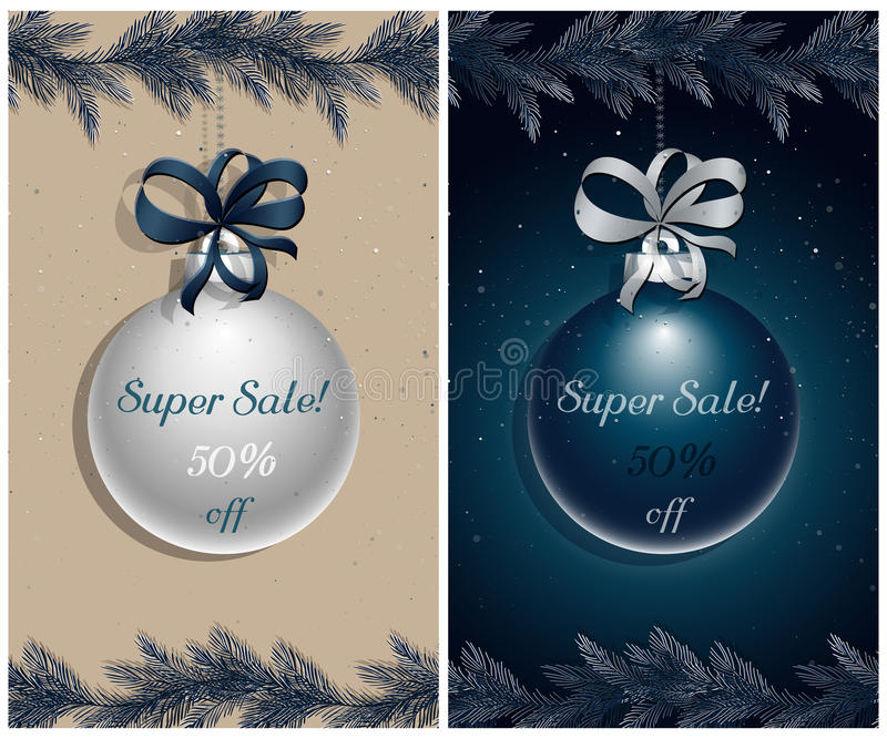 Christmas sale royalty free illustration
