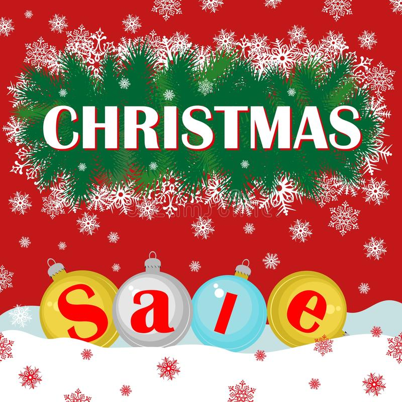 Christmas sale background with christmas decoration for After christmas christmas decoration sales