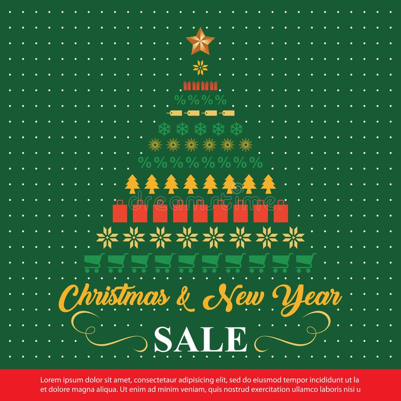 Christmas Sale background . winter sale banner design. vector illustration royalty free stock photography