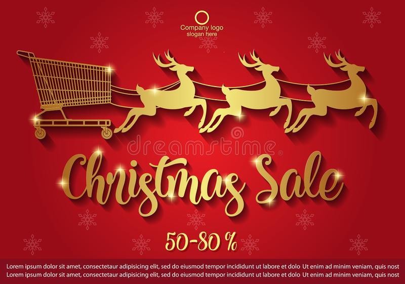 Christmas Sale background . winter sale banner design. vector illustration stock photography