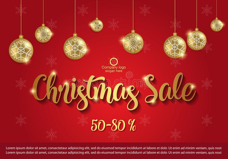 Christmas Sale background . winter sale banner design. vector illustration stock image