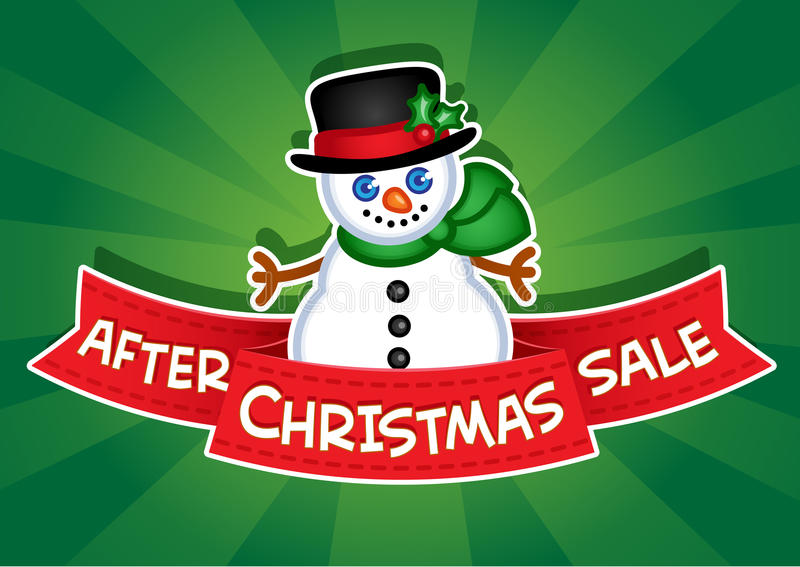 Download After Christmas Sale Banner Stock Vector - Image: 28389059