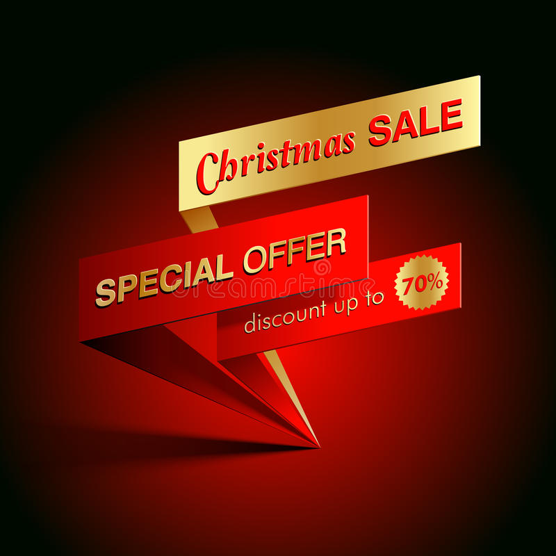 Christmas sale banner. Christmas sale special offer vector template vector illustration