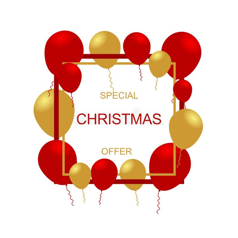 Christmas sale banner template. Vector graphic illustration. vector illustration