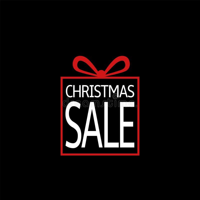 Christmas sale box icon. Merry christmas, Vector illustration vector illustration
