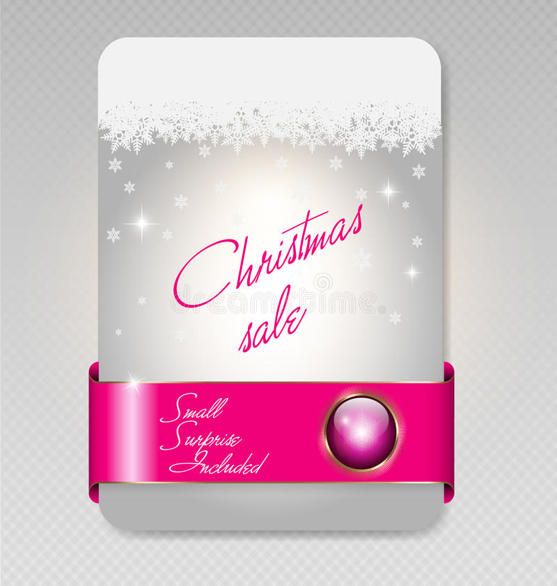 Download Christmas Sale Card Royalty Free Stock Images - Image: 27527459