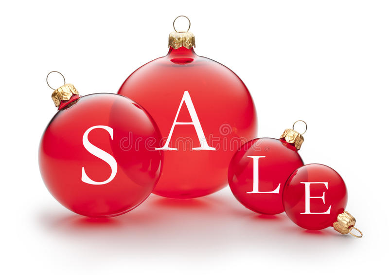 Christmas Holiday Sale Ornament Sign stock photo