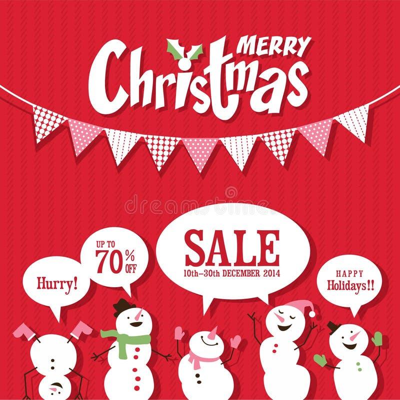Christmas Sale royalty free illustration