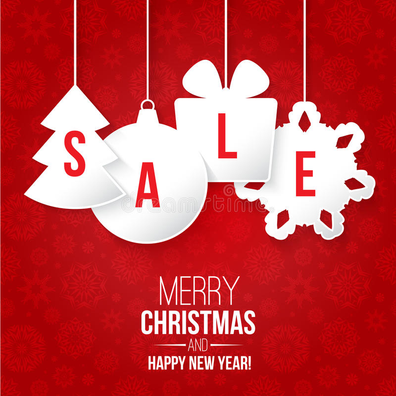 Christmas sale vector illustration