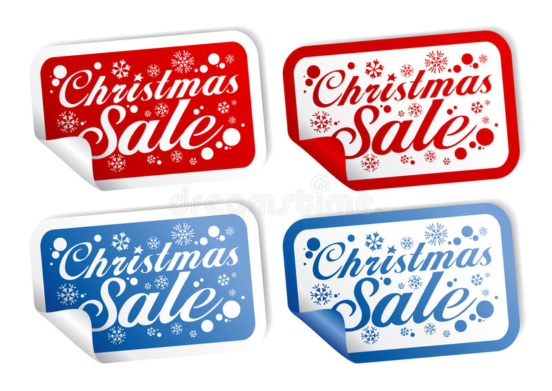 Christmas Sale stickers vector illustration