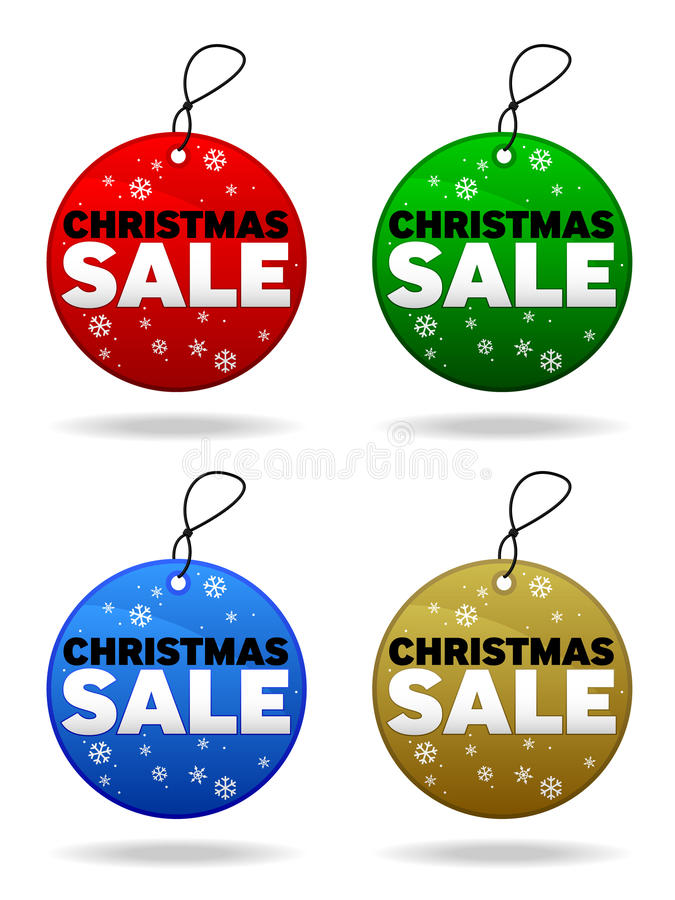 Download Christmas Sale Tags stock vector. Illustration of green - 17173815