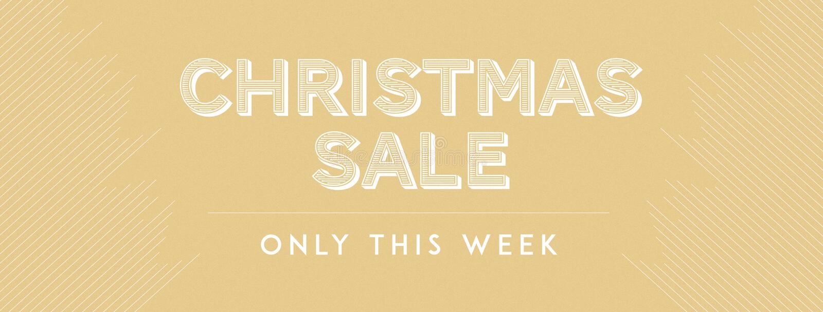 Christmas sale only this week royalty free stock images