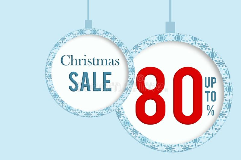 Christmas sale 80 % stock images