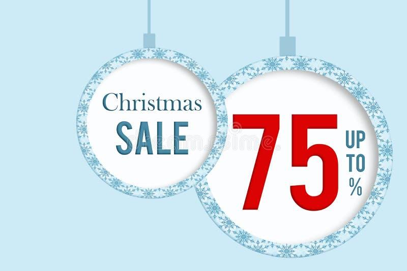 Christmas sale 75 % stock image