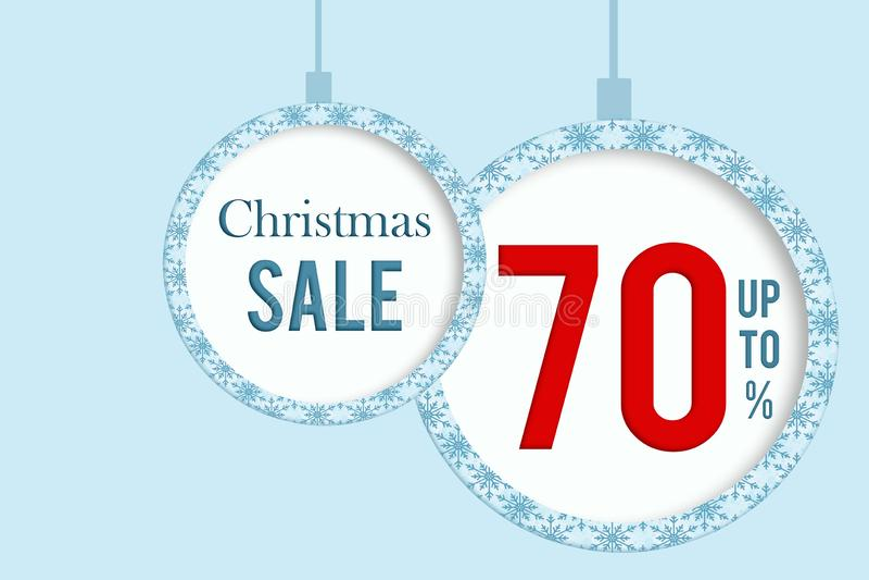 Christmas sale 70 % stock image