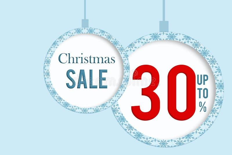 Christmas sale 30 % stock photography