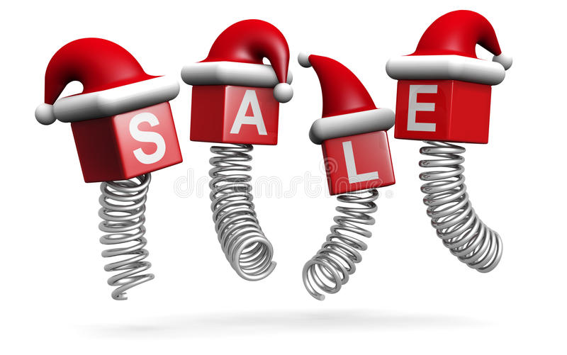 Christmas Sales And Promotion Concept Jumping Stock Photo