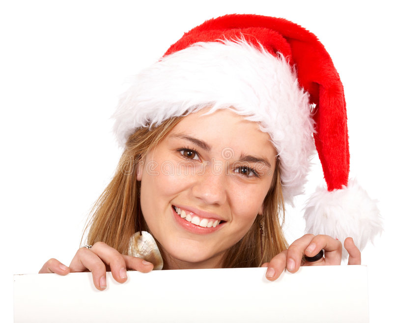 Download Christmas santa billboard stock image. Image of appear - 7279999