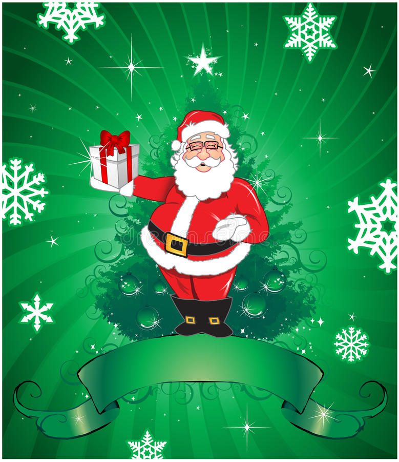 Download Christmas Santa Claus Background Stock Vector - Image: 14584156
