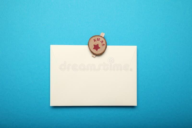 Christmas Santa Claus letter. Blue background. Christmas Santa Claus letter. Blue background stock images