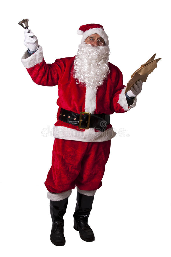 Christmas, santa claus. Lifestyle and customs of santa claus royalty free stock photo