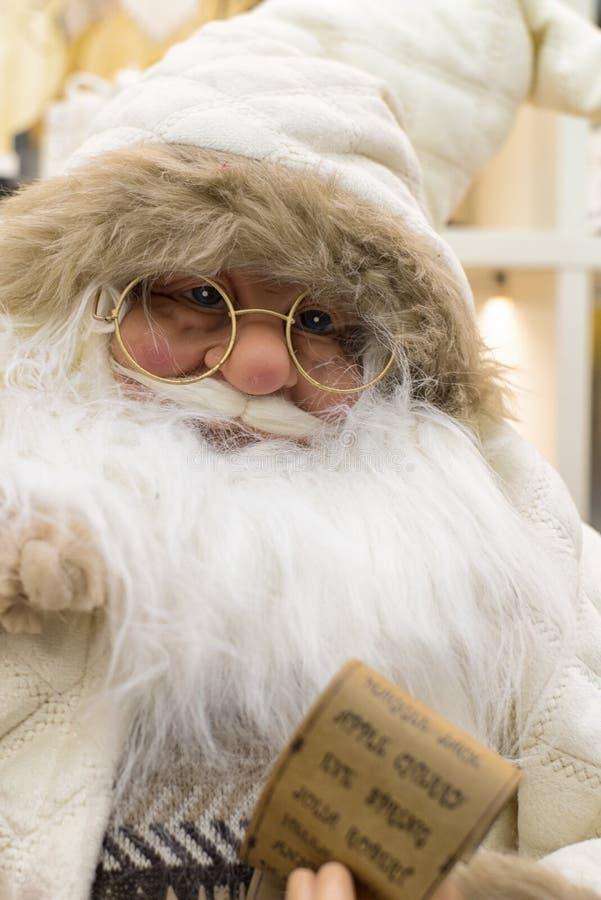 Christmas Santa Claus, Santa doll.Santa Claus doll.Christmas toy. Christmas Santa Claus, Santa doll.Santa Claus doll royalty free stock images
