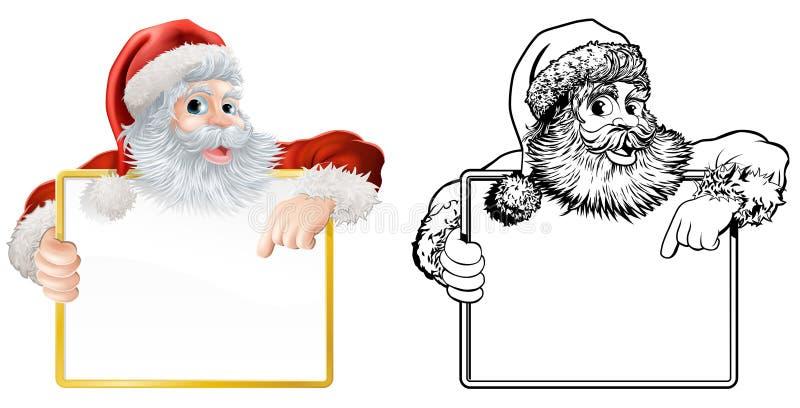 Download Christmas Santa Claus Sign stock illustration. Illustration of board - 27104716