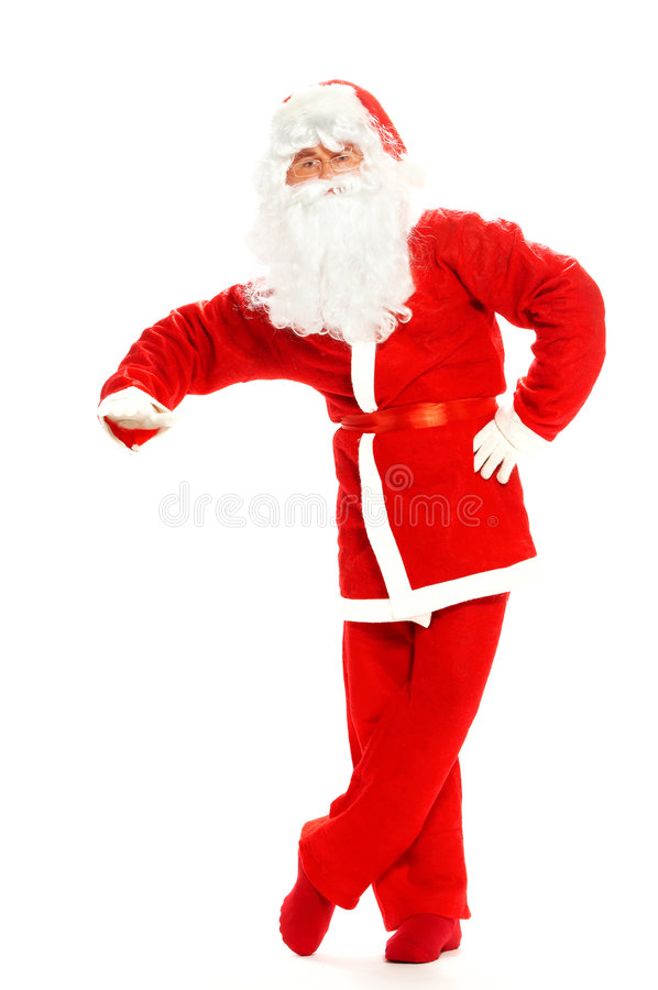 Christmas Santa Clause. On a white background royalty free stock photo