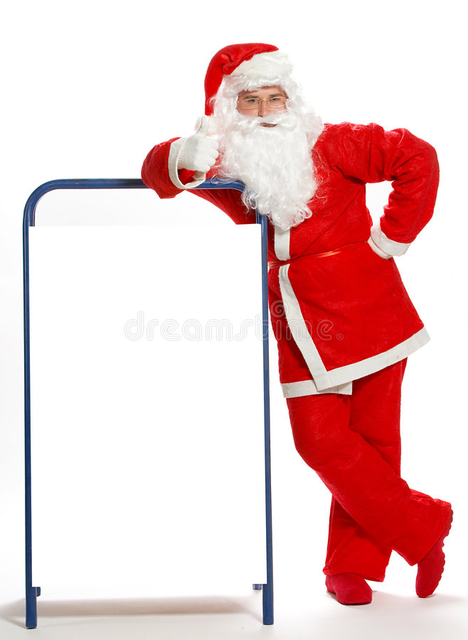 Christmas Santa Clause. On a white background stock images