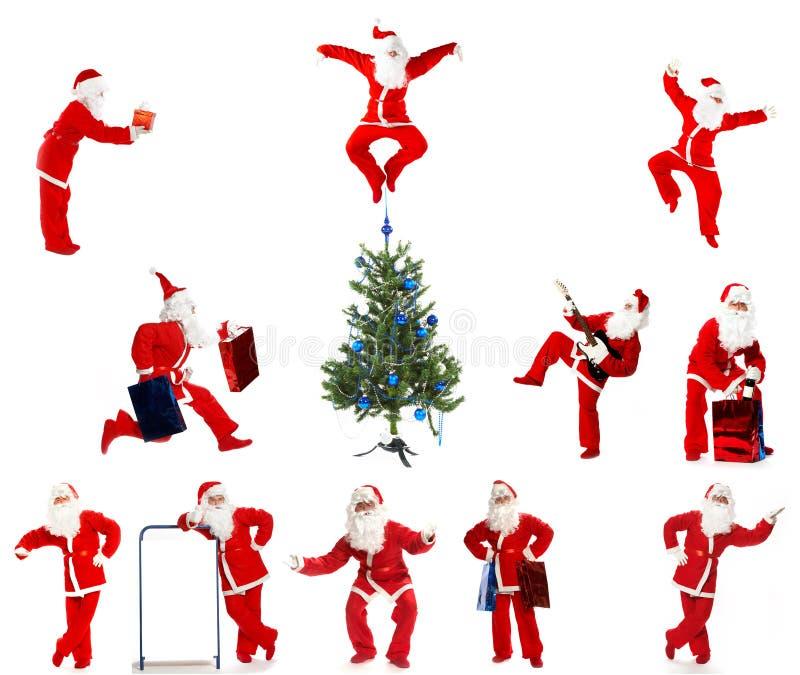 Christmas Santa Clause. On a white background stock photos