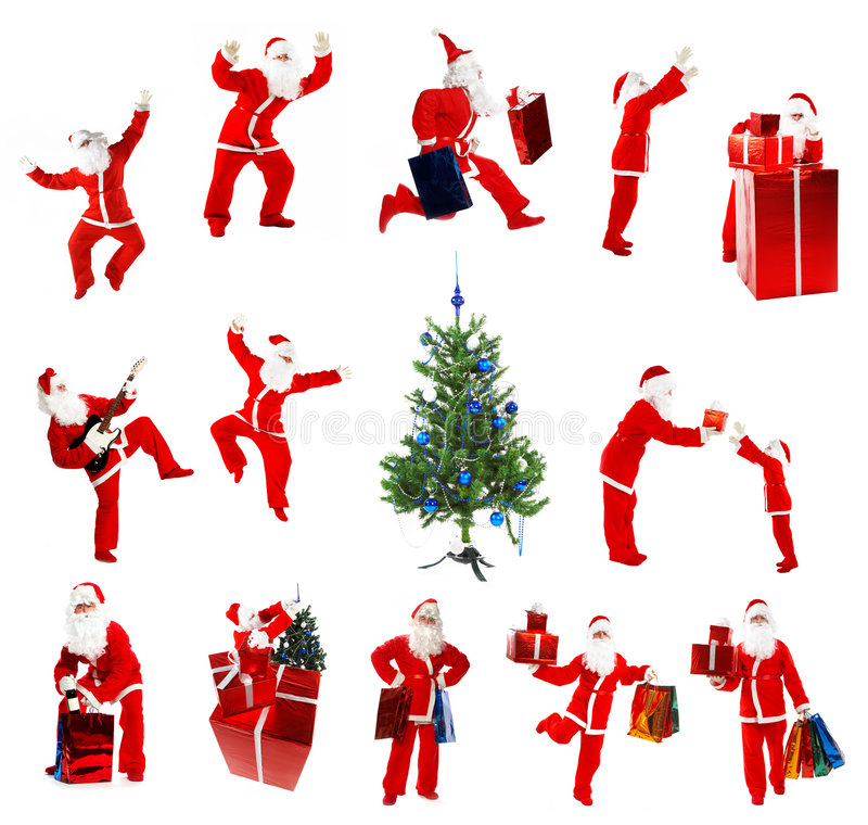 Christmas Santa Clause. On a white background royalty free stock image