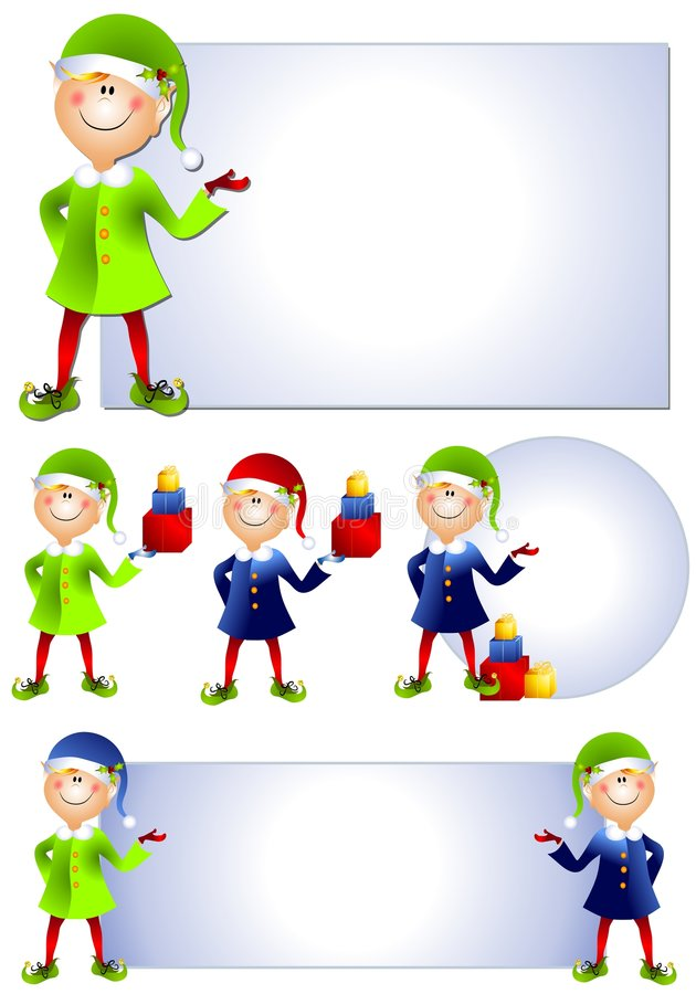 Christmas Santa Elf Clip Art 2 Stock Images