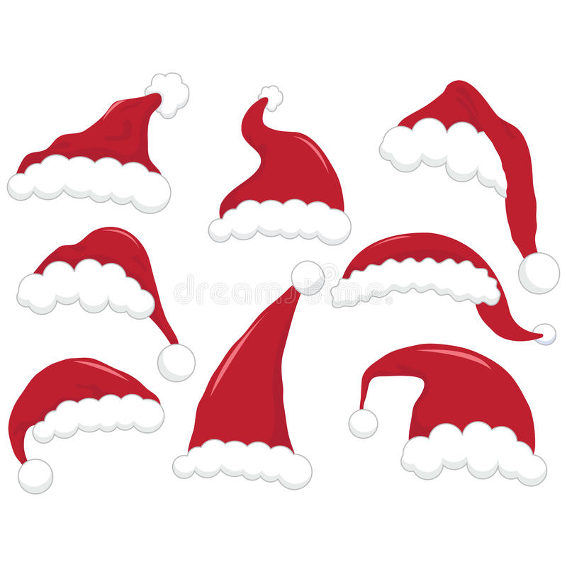 Christmas Santa Hat. A Vector Illustration of Christmas Santa Hat