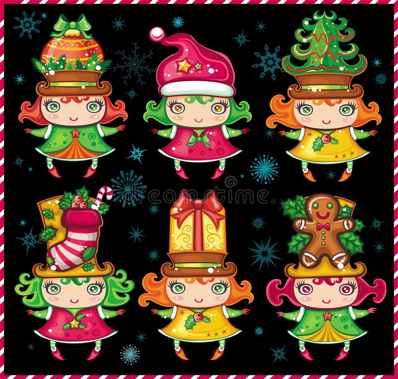 Download Christmas Santa Helpers 1 stock vector. Image of anise - 11543124