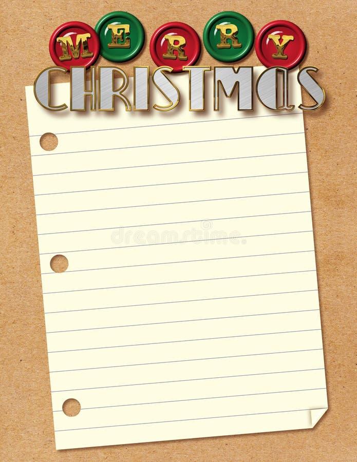 Christmas Santa Letter vector illustration