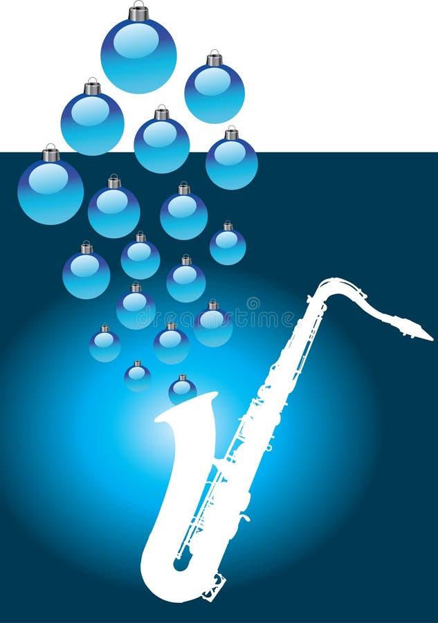 Christmas saxophone royalty free stock image