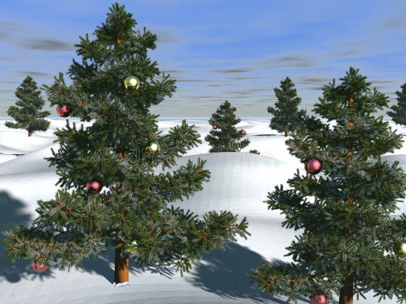 christmas scene απεικόνιση αποθεμάτων