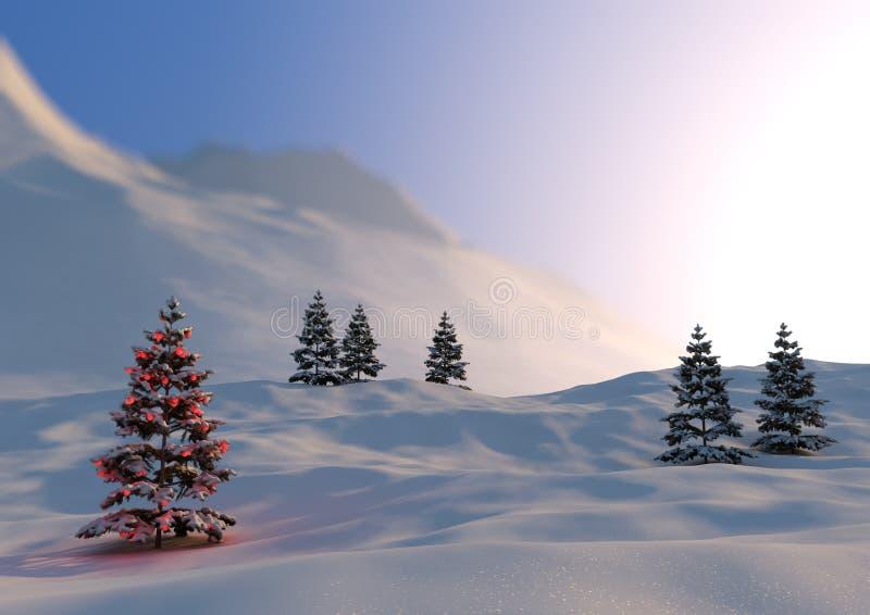 Christmas scene. Render of a serene christmas scene royalty free stock image