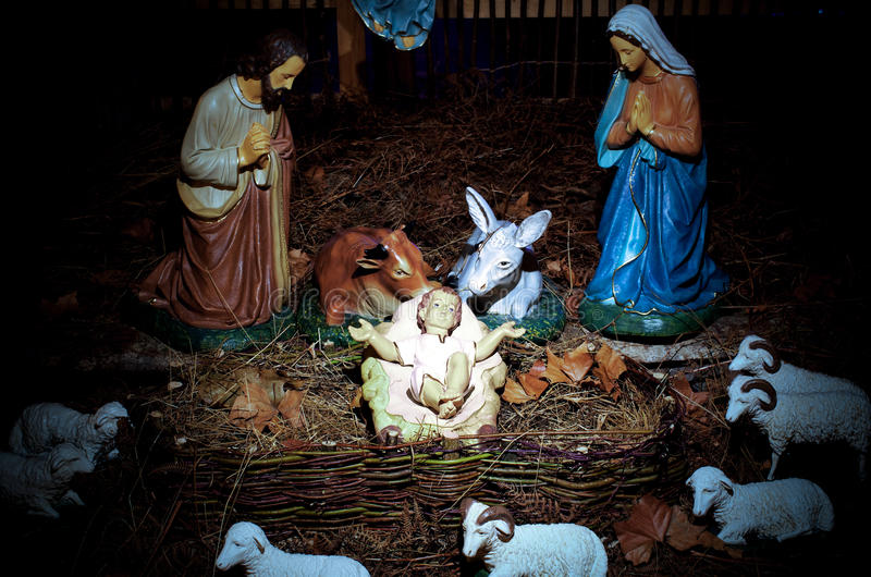 Christmas scene stock images